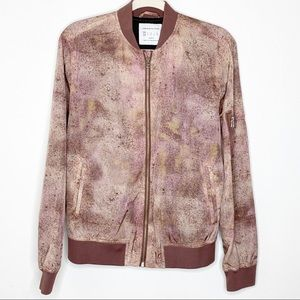 Urban Outfitters Spray Paint Bomber Jacket